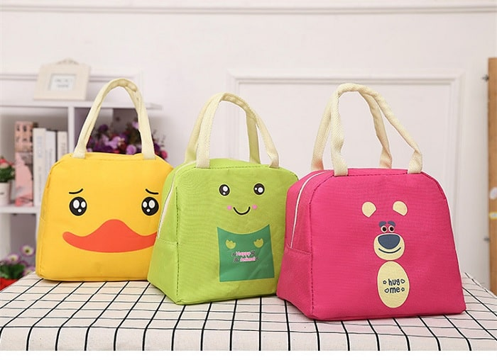 Cartoon Insulated Lunch Bag(Random Colors)