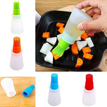 Load image into Gallery viewer, Silicone Oil Bottle with Basting Brush (Random Colour)