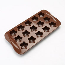 Load image into Gallery viewer, Silicone Chocolate Molds Star Shapes Cookies Mould Cake Decorating Bar Ice Cube Candy Baking Tray Mold Food Grade Non-Stick Moulds, Pack of 1