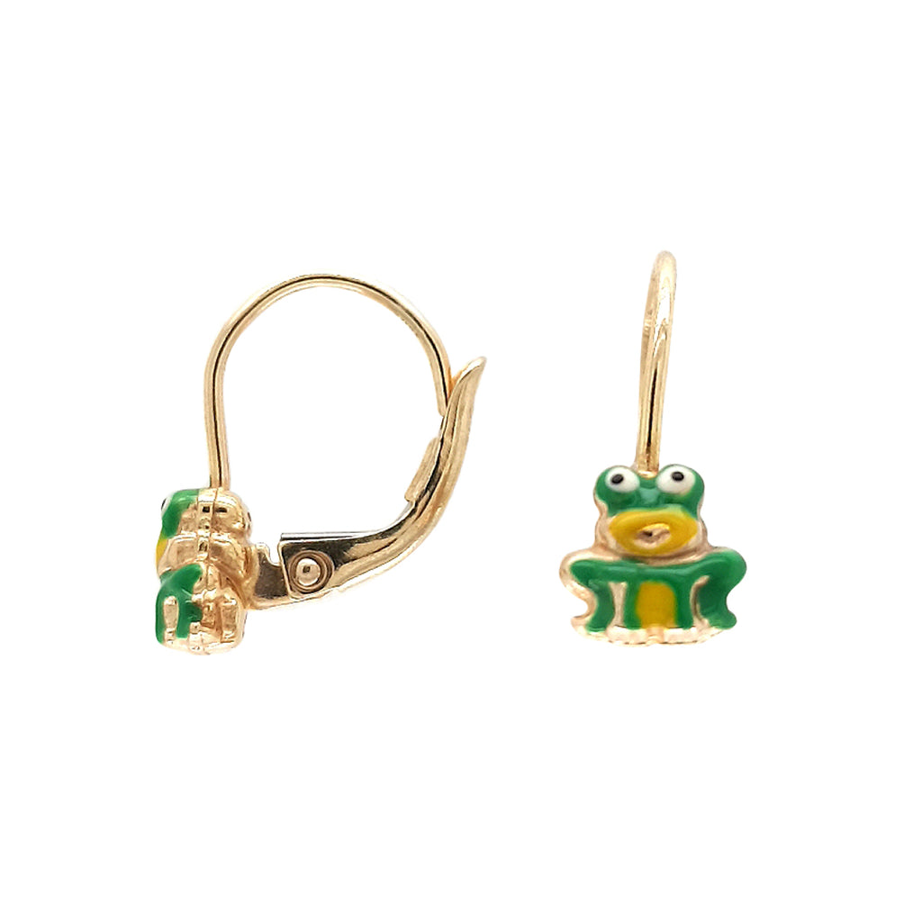Mini Green Frog Earrings - Baby Fitaihi