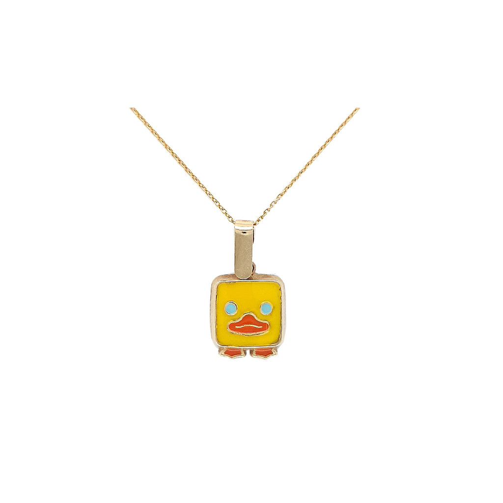 Mini Square Duck Necklace - Baby Fitaihi
