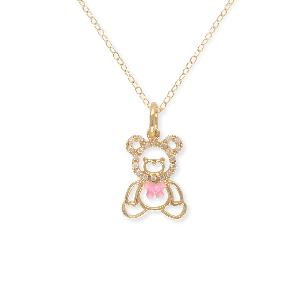 """Oscar The Teddy"" Necklace - Baby Fitaihi"