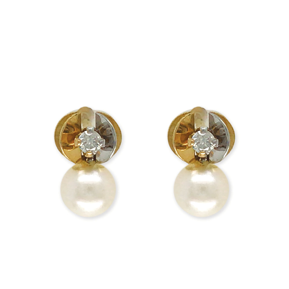 Diamond And Pearl Earrings - Baby Fitaihi