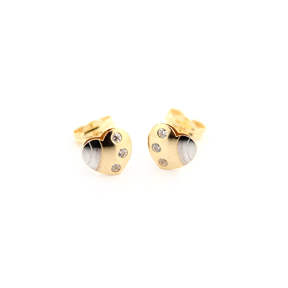 18K Heart Earrings - Baby Fitaihi