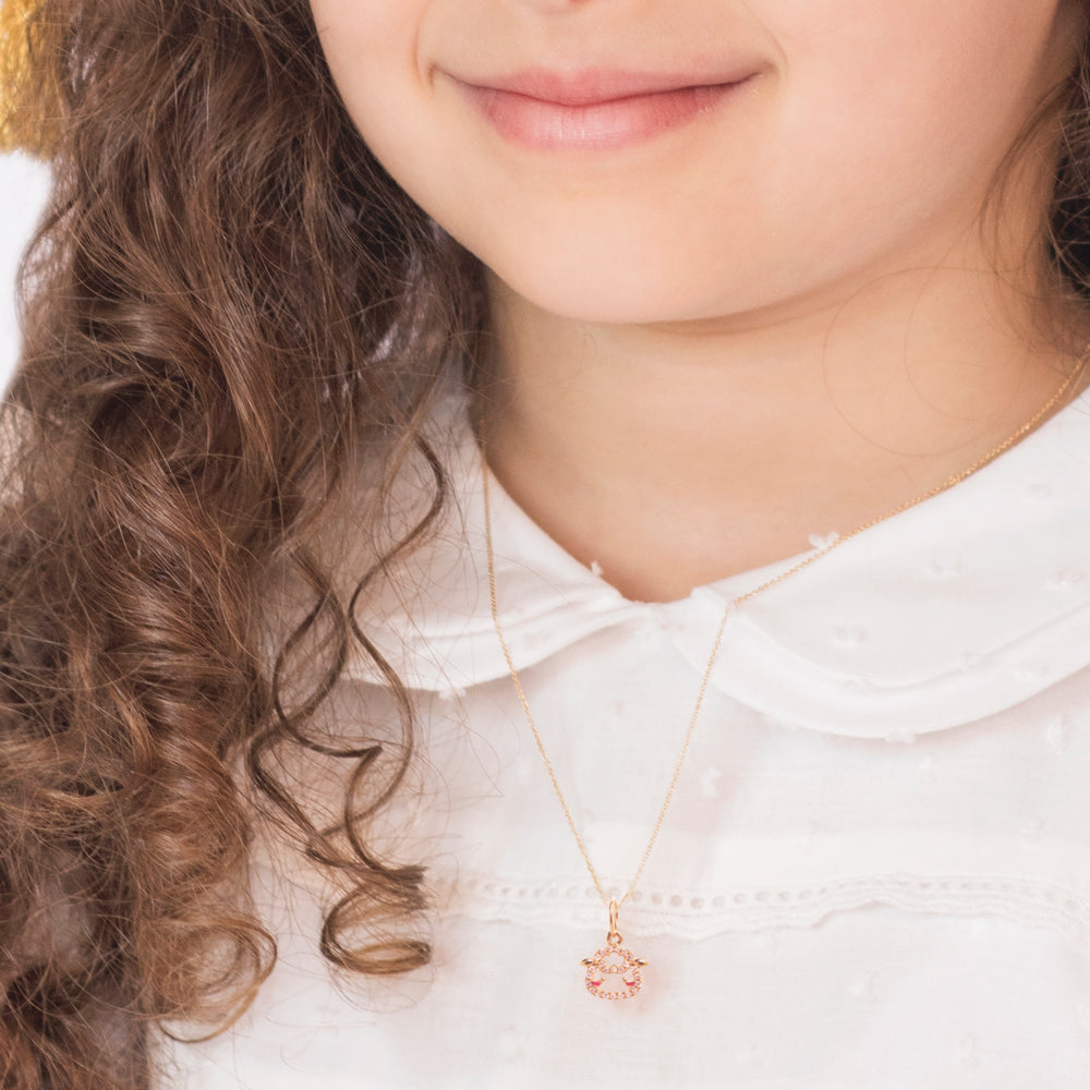"""Maya the Raccoon"" Gold Necklace - Baby Fitaihi"