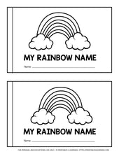 Load image into Gallery viewer, Editable Rainbow Name Early Reader Book