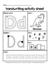Load image into Gallery viewer, Alphabet Letters A to Z Worksheets - Printables 4 Learning
