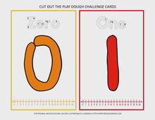 Load and play video in Gallery viewer, Fine Motor Task Cards: 0-20 Numbers Play Dough Pack