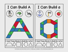 Load and play video in Gallery viewer, Fine Motor Task Cards: ABC Pattern Block Pack