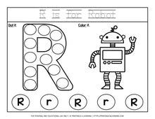 Load image into Gallery viewer, Alphabet Letters A to Z Dot Marker Worksheets - Printables 4 Learning