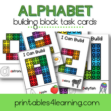 Load image into Gallery viewer, Fine Motor Task Cards: ABC Lego Pack - Printables 4 Learning