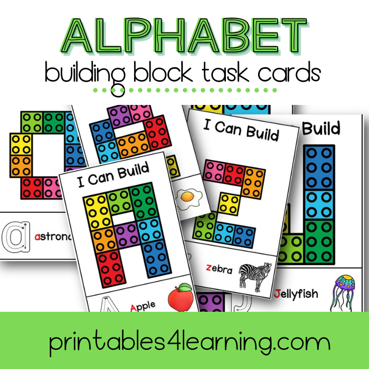 Fine Motor Task Cards: ABC Lego Pack - Printables 4 Learning