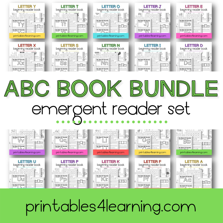 Alphabet Emergent Readers A to Z Bundle - Printables 4 Learning