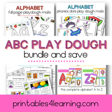 Load image into Gallery viewer, Alphabet Play Dough Mats Bundle