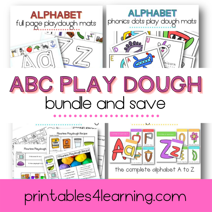 Alphabet Play Dough Mats Bundle