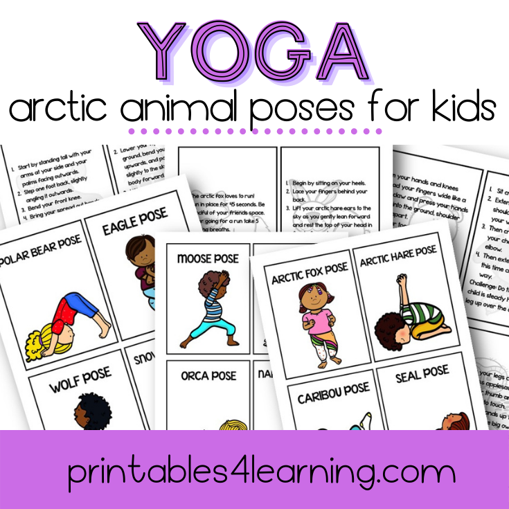 Yoga Cards for Kids: Arctic Animal Poses