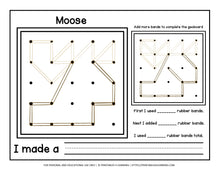 Load image into Gallery viewer, Geoboard Activities: Arctic Animals Patterns Packet