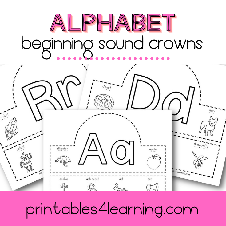 Beginning Sounds Alphabet Crowns Craft - Printables 4 Learning