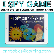 Load image into Gallery viewer, Boom Cards™ Digital Task Cards: I Spy Solar System Flashlight Game