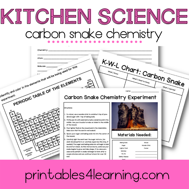 Carbon Sugar Snake Science Experiment: Chemical Reactions