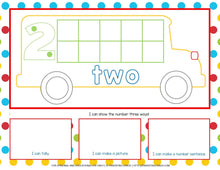 Load image into Gallery viewer, 1-10 School Bus Counting Mats | Tens Frame, Tally, and Array