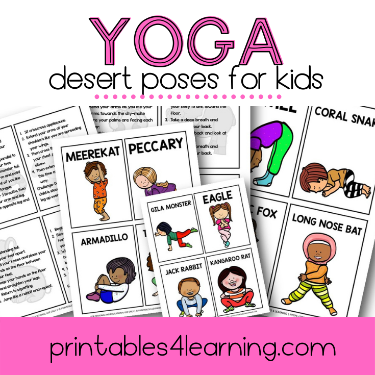 Yoga Cards for Kids: Desert Animal Poses