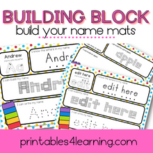 Load image into Gallery viewer, Editable Name Activity: Building Block Names