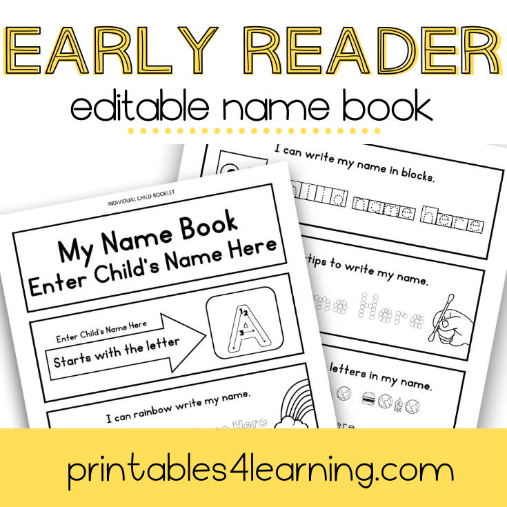 Editable Name Early Reader Book