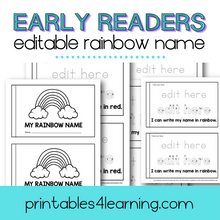 Load image into Gallery viewer, Editable Rainbow Name Early Reader Book - Printables 4 Learning