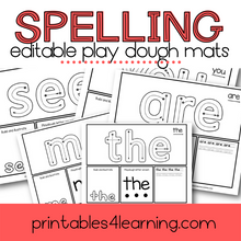 Load image into Gallery viewer, Editable Sight Words Play Dough Mats