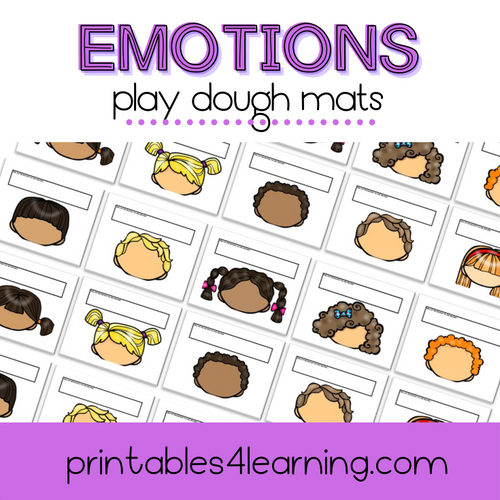 Emotions: Playdough Face Mats - Printables 4 Learning