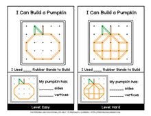 Load image into Gallery viewer, Geoboard Activities: Fall Patterns Packet