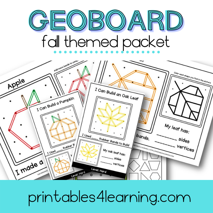 Geoboard Activities: Fall Patterns Packet