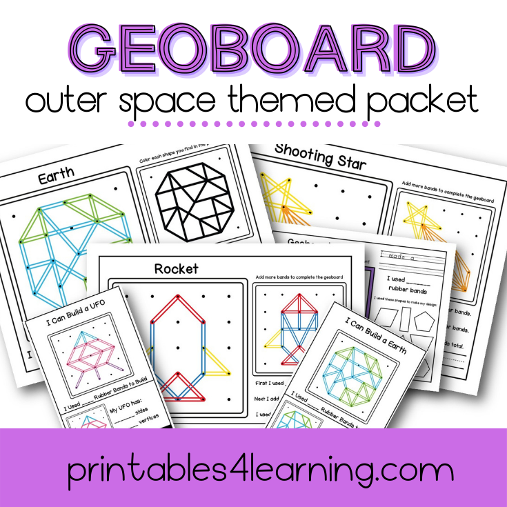 Geoboard Activities: Outer Space Patterns Packet
