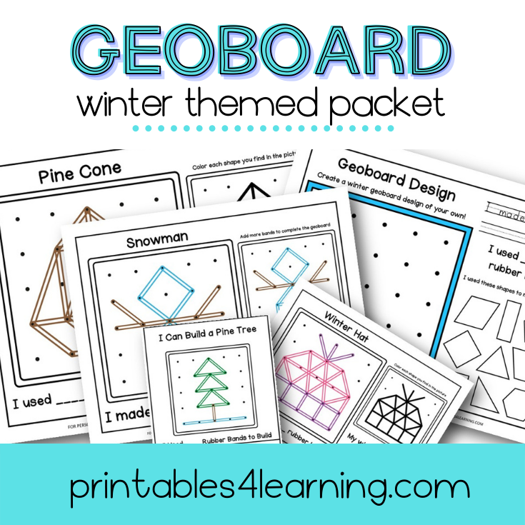 Geoboard Activities: Winter Patterns Packet