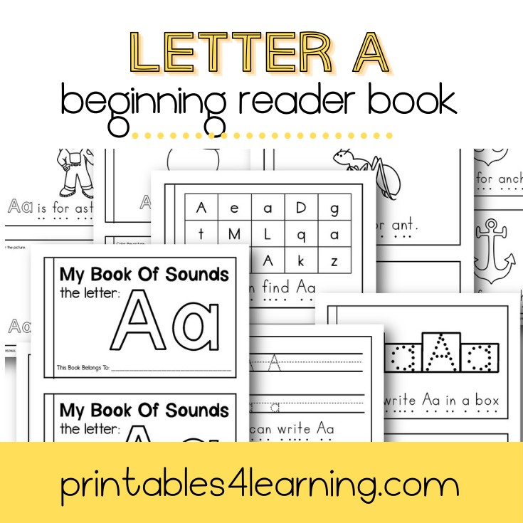 Letter A Emergent Reader Coloring Book