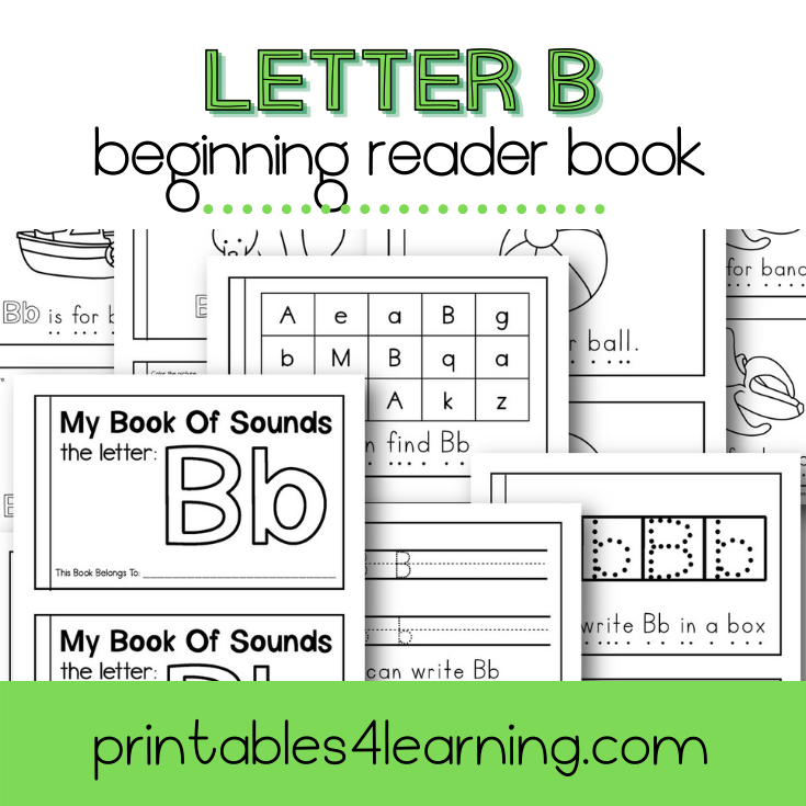 Letter B Emergent Reader Coloring Book