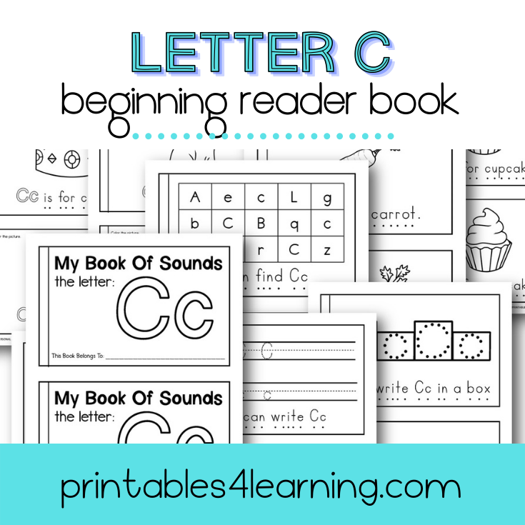 Letter C Emergent Reader Coloring Book