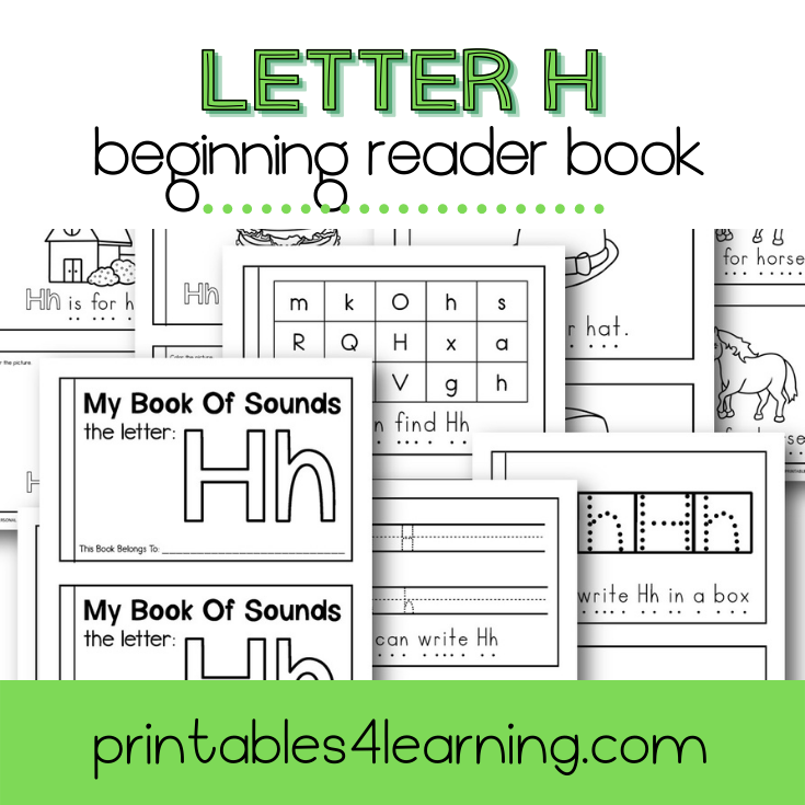 Letter H Emergent Reader Coloring Book