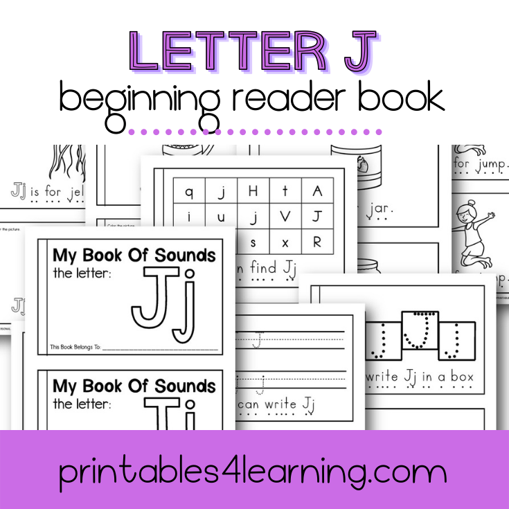 Letter J Emergent Reader Coloring Book