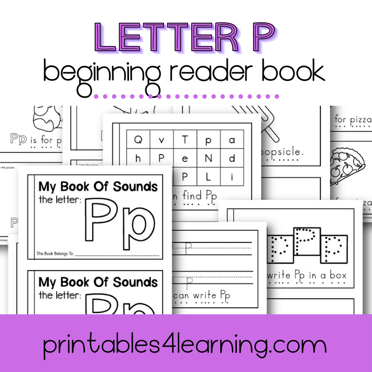 Letter P Emergent Reader Coloring Book