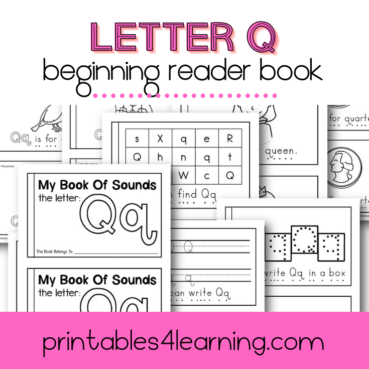 Letter Q Emergent Reader Coloring Book