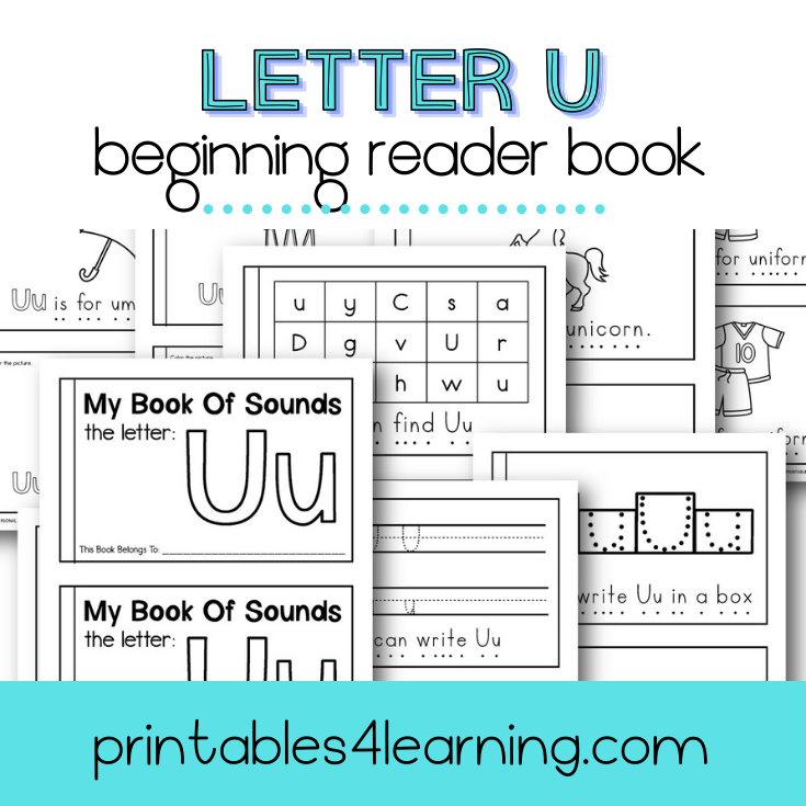 Letter U Emergent Reader Coloring Book