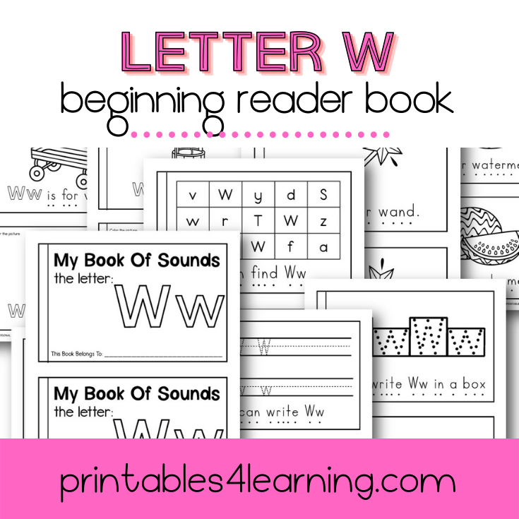 Letter W Emergent Reader Coloring Book