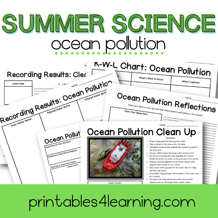 Ocean Pollution Science Experiment: Can You Clean Up The Pollution?