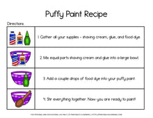 Load image into Gallery viewer, Adapted Visual Recipe: Puffy Paint