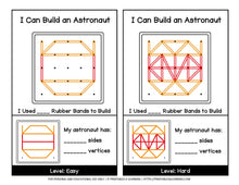 Load image into Gallery viewer, Geoboard Activities: Outer Space Patterns Packet
