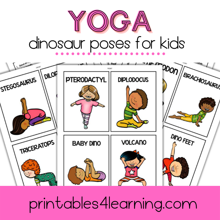 Yoga Cards for Kids: Dinosaur Poses