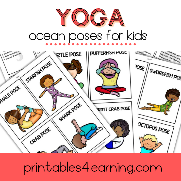 Yoga Cards for Kids: Ocean Poses