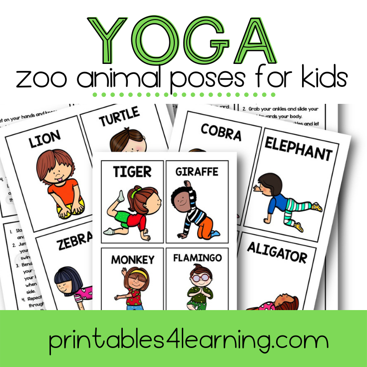 Yoga Cards for Kids: Zoo Animal Poses